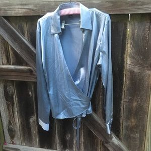 Ann Taylor Silk Wrap Blouse
